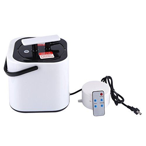 Zerodis 2L Home Portable RC Sauna Steamer for Congestion Steam Generator Sauna Steamer Pot Remote Control Home SPA Accessories with Timer Temp Display(US)