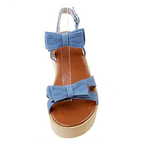Coolcept Women Fashion Open Toe Sandals Shoes Straps Light Blue YECnOSrO