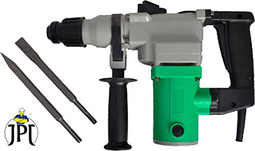 JPT 26MM SDS Chipping and Rotary Hammer Drill | Includes Demolition Bits, Flat and Point Chisels (with 2 Demolition Chisels)