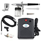 Black 0.3mm Airbrush Spray Paint Air Compressor Kit for Hobby Temporary Tattoo Car Painting