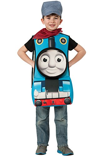 Rubies Thomas and Friends Deluxe 3D Thomas The Tank Engine Costume, (Baby Train Conductor Outfit)