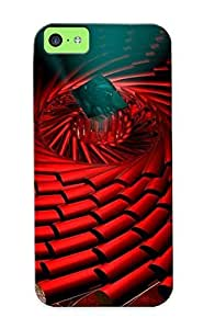 For Iphone Case, High Quality Spiraling Red Pillars For Iphone 5c Cover Cases / Nice Case For Lovers