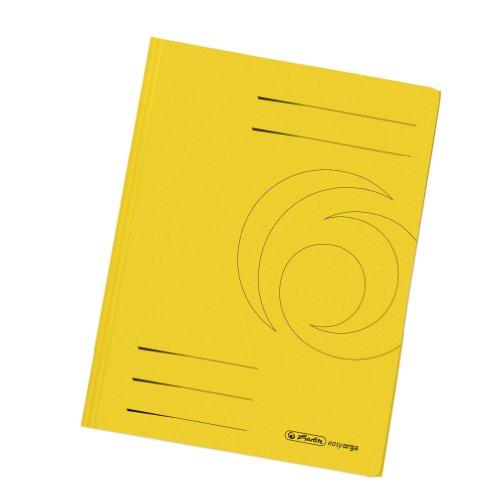 Herlitz 11076437 Einschlagmappe A4 recycling intensiv gelb, Manilakarton, 320 g/qm 10er Packung