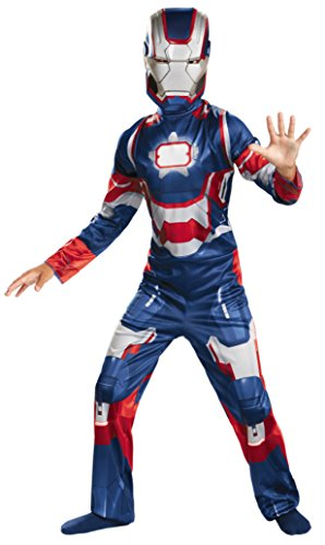 Boys Iron Patriot Classic Kids Child Fancy Dress Party Halloween Costume, L (10-12)