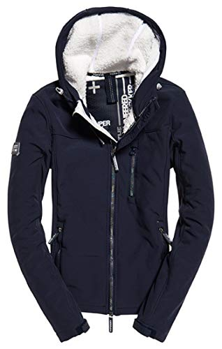 Blu Superdry Navy Windtrekker Metallic Slick new oil Donna Sportiva Winter Giacca Xf3 Hooded 8YgwrxYq6