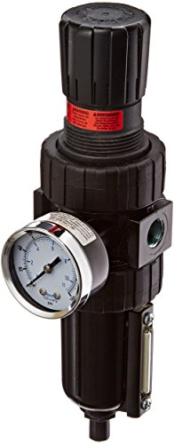 Parker 06E28B18AC1  One Piece Filter/Regulator, 3/8'' BSPP, Metal Bowl with Sight Gauge, Auto Float Drain, 5 micron, 55 scfm, Relieving Type, 2-125 psig Pressure Range, with Gauge by Parker Hannifin
