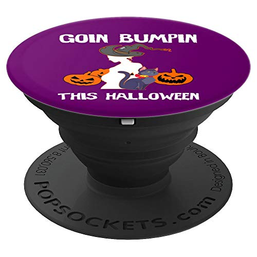 Halloween Pregnant Mom Gift - Goin Bumpin Cat And Witch PopSockets Grip and Stand for Phones and Tablets -