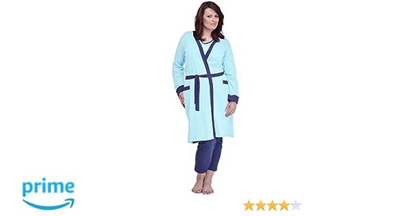 Merry Style Batas Tallas Grandes Plus Size Ropa de Cama Interior Lencería Mujer 484 (Turquesa, XXL): Amazon.es: Ropa y accesorios