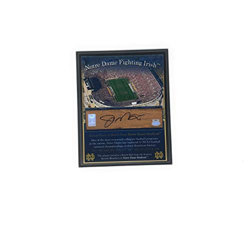 (Joe Montana Notre Dame FIghting Irish Signed Autograph Game Used Bench Slab Notre Dame Stadium GTSM Montana Player Hologram Certified)