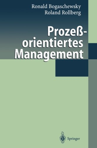 Prozeßorientiertes Management (German Edition) by Springer
