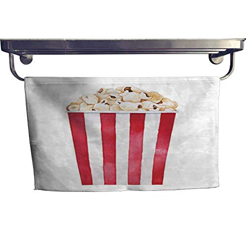 warmfamily Absorbent Towel Popcorn in Big Classic Striped red and White Cardboard tub Towel W 14