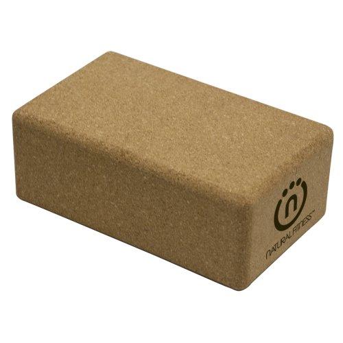 Natural Fitness Cork Yoga Block (5.5 x 9 x 3.5-Inch)
