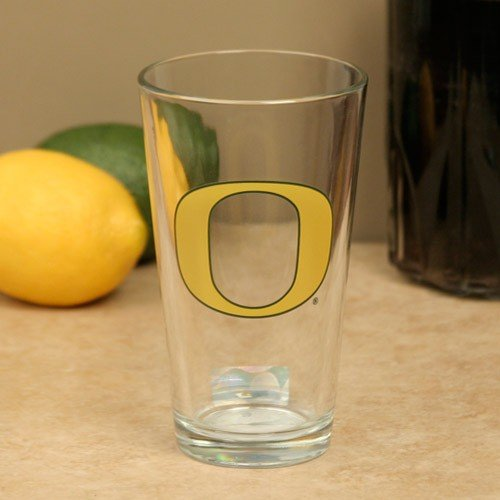 NCAA Oregan Ducks Boelter Satin Etched Pint - Glass Etched Duck
