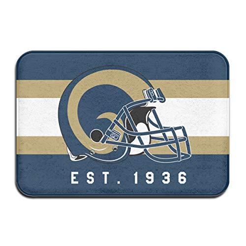 - Jacoci Custom Los Angeles Rams Doormats Non Slip Heavy Floor Door Mats Rugs Bahroom Decor Standard Size 15.7 X 23.6 Inches