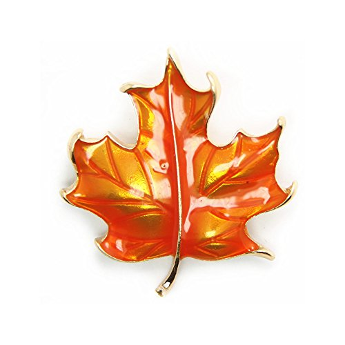 JoJo & Lin Maple Leaf Brooch Pin The Fall of The Leaf Thanks Giving Gift (Autumn Maple Leaf)