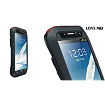 Love Mei Multifunction Upgraded Version Phone Case for Samsung Galaxy Note II (Black and Red)