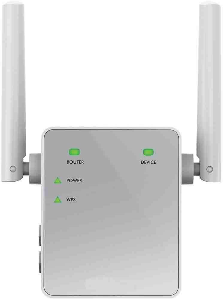 Netgear EX3700 Repetidor de red WiFi extensor amplificador de cobertura AC750, doble banda, velocidad de hasta 750 Mbps, puerto Fast Ethernet10/100 Mbps, compatibilidad universal
