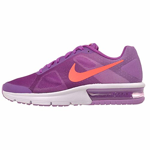 Nike Kid's Air Max Sequent GS, Vivid Purple/Bright Crimson - Flash Glow, Youth Size 7