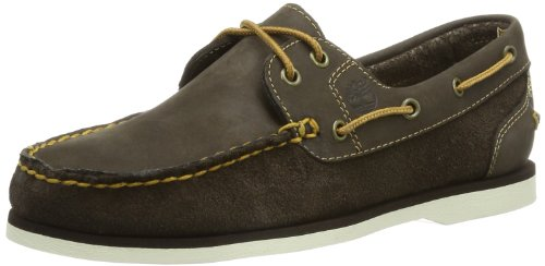 Timberland Dark Marron Brown Leather Femme Mocassins Classic rBRZrqC