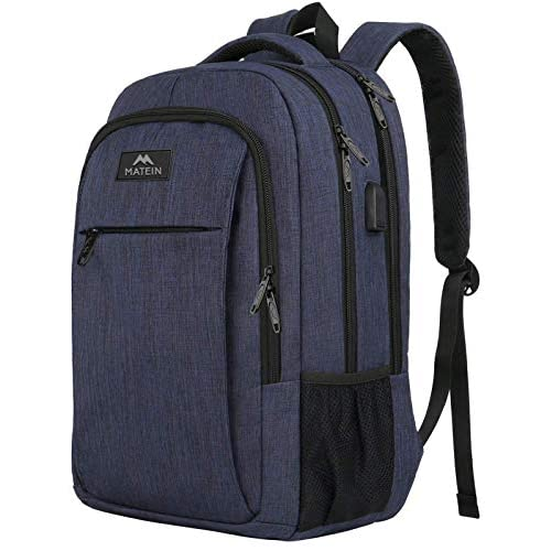 Matein Water Resistant Laptop Backpack With USB Charging Port