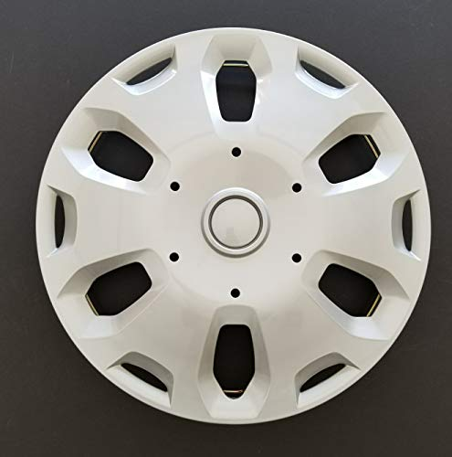 (MARROW One New Wheel Cover Hubcap Replacement Fits 2010-2013 Ford Transit Connect; 15 Inch; 6 Spoke; Silver Color; Plastic; One Single Hubcap Only)