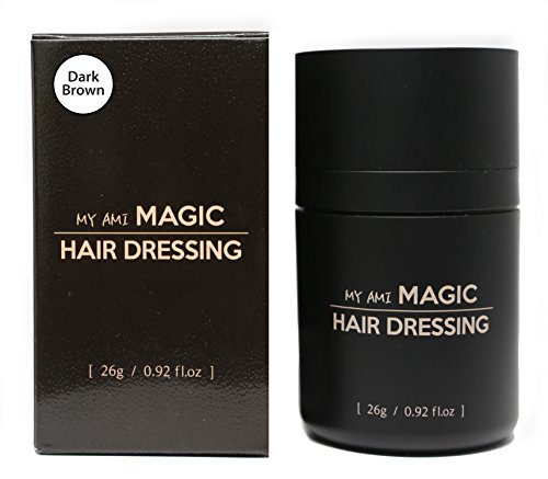 Magic Hair Dressing - Dark Brown - Hair building fibers hair loss concealer.NEW on Amazon USA, Best Seller in Korea