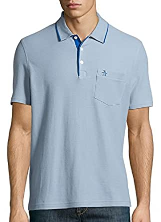 Original Penguin Men's Mearl Polo Medium Ashley Blue