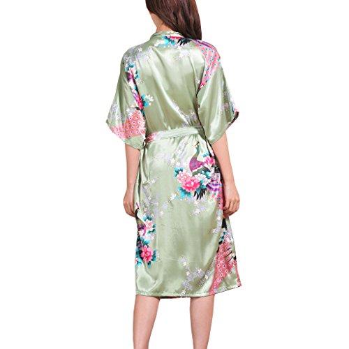 chiaro Verde Camicia notte da Waymoda Donna TqX8H