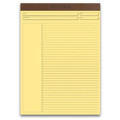 Levenger Freeleaf Yellow Annotation Ruled Pads, Letter (5) (ADS5530)