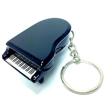 Llaveros de madera con forma de Piano - Black: Amazon.es ...