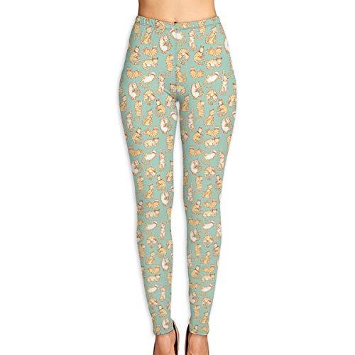 (Women's Orange Tabby Cats Leggings Yoga Long Pants Casual Sweatpants Athletic Gym Pants)