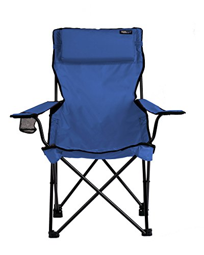 TravelChair Classic Bubba Chair, Comfortable Large Folding Camping Chair, Blue