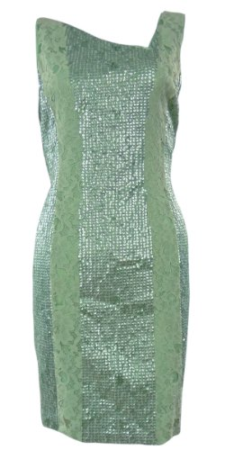 Jessica Simpson Women's Sequin and Lace Tank Dress, Jade, 2 US