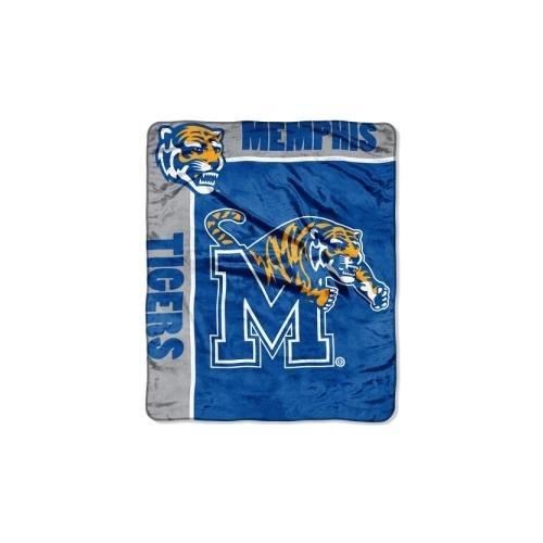 Tigers Fleece (The Northwest Company Officially Licensed NCAA Memphis Tigers School Spirit Plush Raschel Throw Blanket, 50
