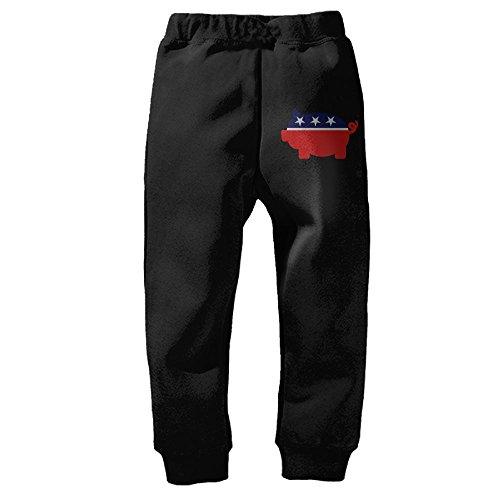 Vote Porky Party Unisex Kids Cotton Elastic Waist Pants Infant Sport Jogger Winter Baby Pants