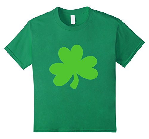 Kids Shamrock T-Shirt Green Clover Good Luck St. Patricks Day tee 8 Kelly Green