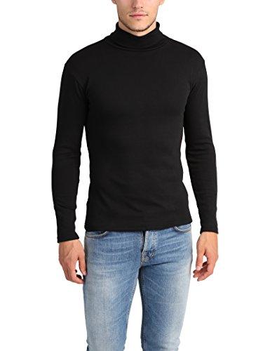 Lower East Camiseta con cuello alto Slim Fit para hombre, Azul Marino, S: Amazon.es: Ropa y accesorios