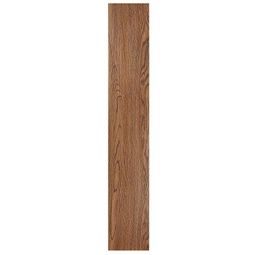 Achim Home Furnishings VFP2.0RW10 Tivoli II Peel 'N' Stick Vinyl Floor Planks (10 Pack), Redwood, 6 x 36 by Achim Home Furnishings