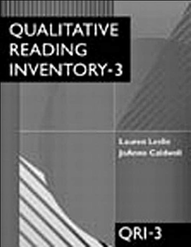 Qualitative Reading Inventory-3 (text only) 3rd (Third) edition by L. Leslie,J. Caldwell