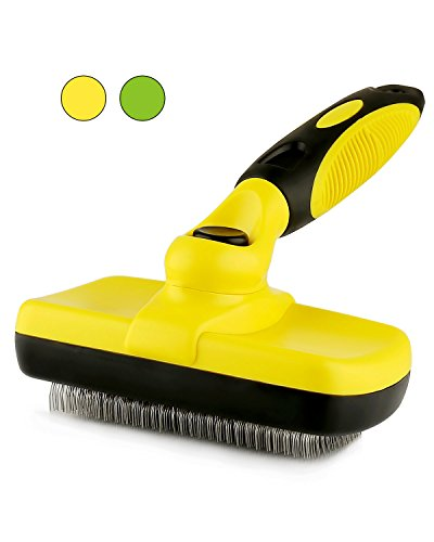 Vowol Self Cleaning Slicker Brush – Pet Grooming Brush – Suitable For All Sizes And Hair Types (Slicker Self Cleaning)