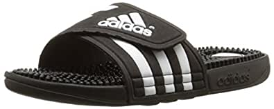 adidas Women's adissage Slide,Black/Black/Running White,5 M US