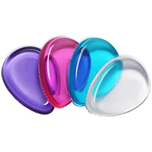 Pack of 2 Washable Silicone Makeup Sponge Gel Foundation Makeup BB Cream Puff (Waterdrop Style_4PCS)