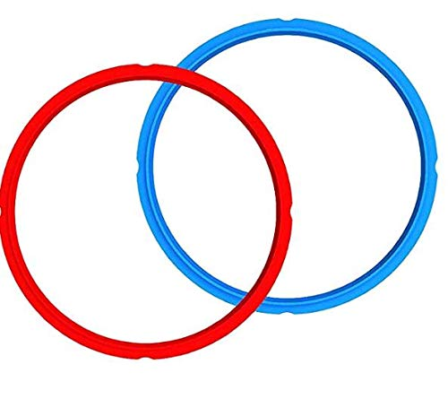 - Pack of 2 Silicone Sealing Rings for Instant Pot, Echeer Universal Sealing Ring for Instant Pot 8 Quart Pressure Cooker, Red and Blue