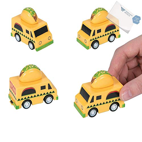 Bargain World Taco Truck Pullback Racers (With Sticky Notes)