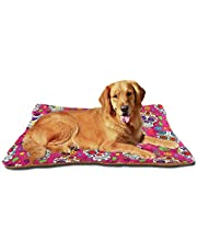 Dog Bed Blue Camouflage Dog Crate Mat Mattress Washable for Large Medium Small Puppy Pets Pad 24x18 Inches 21003014