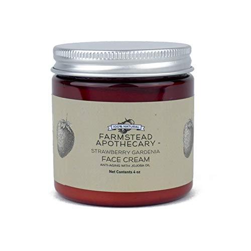 (Farmstead Apothecary 100% Natural Anti-Aging Face Cream with Jojoba Oil, Strawberry Gardenia 4 oz)