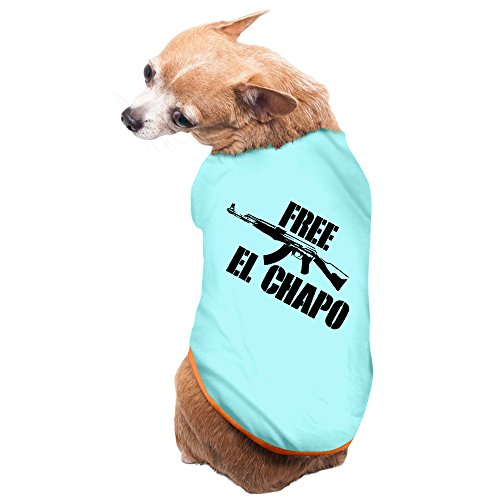 free-el-chapo-black-font-logo-fashion-print-custom-dog-clothes