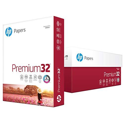 - HP Printer Paper, Premium32, 8.5 x 11 Paper, Letter Size, 32lb Paper, 100 Bright, 6 Reams / 3,000 Sheets, Presentation Paper, Acid Free Paper (113100C) (Renewed)