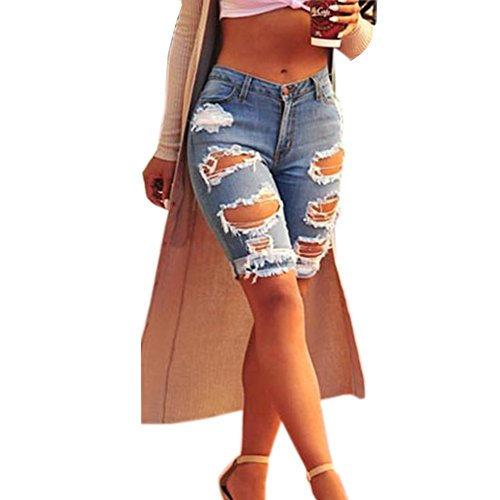 TOPSHOP Womens Fashion Ripped Shorts product image