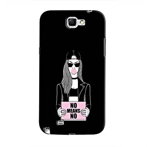 Cover It Up - No Means No Galaxy Note 2 N7100 Hard Case